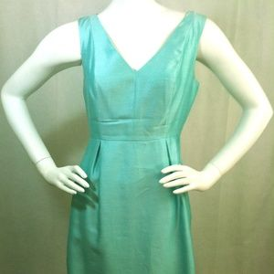 Kate Spade New York Aqua Pleated Dress Size 4